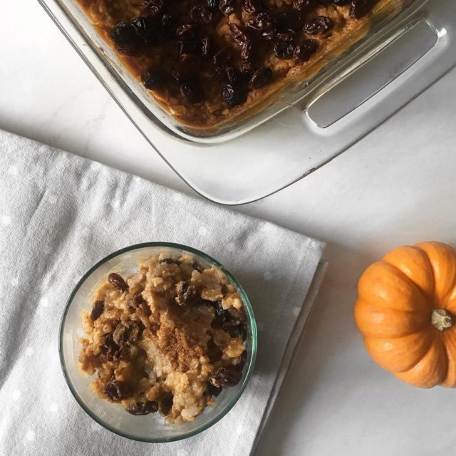A fall twist on a rice pudding desertmaking it festivehellip